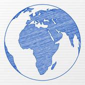 Drawing world globe 2