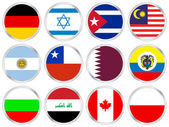 national flags circle icon set 4