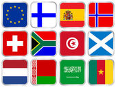 national flags square icon set 3