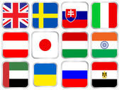 national flags square icon set 5