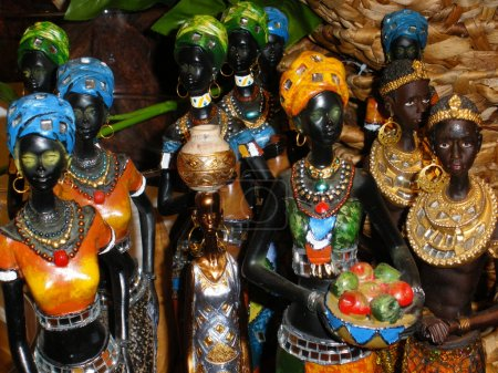 Ceramic African Woman Figurines
