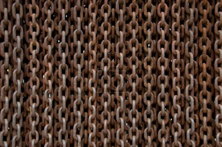 Rusted chains background
