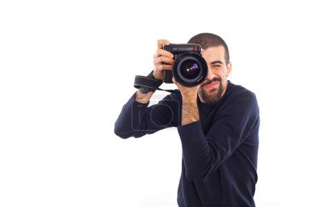 Photo pour Jeune photographe prendre des photos - image libre de droit