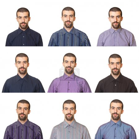 Photo for Collection of Portraits, Man Wearing Different Shirts - Royalty Free Image