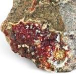 Garnet gem, crystallization on rock...
