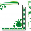 Set of background with clovers for St.Patricks day...