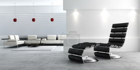 Photo pour Intérieur moderne de la pièce adrawing (rendu 3d ) - image libre de droit