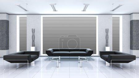 Photo pour Intérieur moderne d'une chambre - image libre de droit