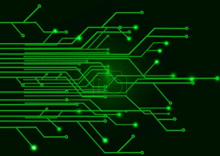 Photo for Green circuit Board on a black background - Royalty Free Image