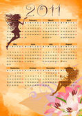 Calendar grunge fairy