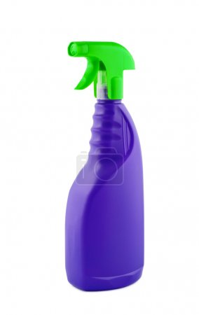 Bottle sprayer for cleaning isolated on white background.