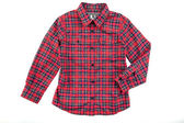 Red cheskered boy shirt