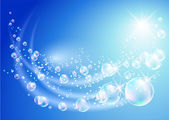 Background with transparent bubbles