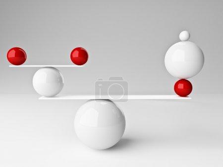 Photo pour Beau rendu 3d de boules en équilibre - image libre de droit