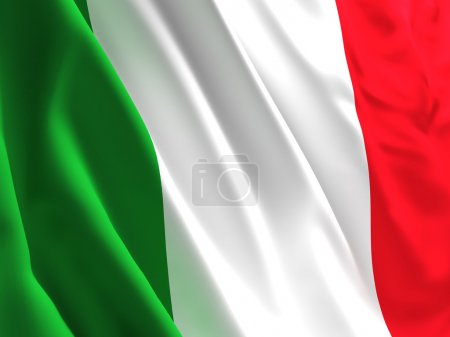 Fine 3d image of waved italian flag background...