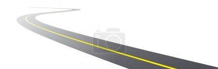 Vector black asphalt road