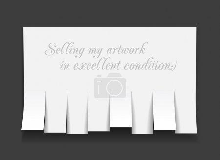 Illustration pour Publicité vierge avec coupures. Illustration vectorielle - image libre de droit