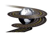 Spiral road concept illustration on white background