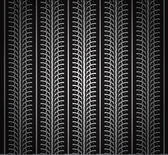 Repeating tire tracks vector black background illustration