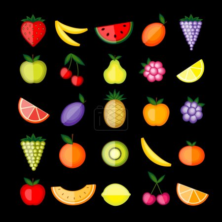 Photo for Energy fruits. Vector collection for your design - Royalty Free Image