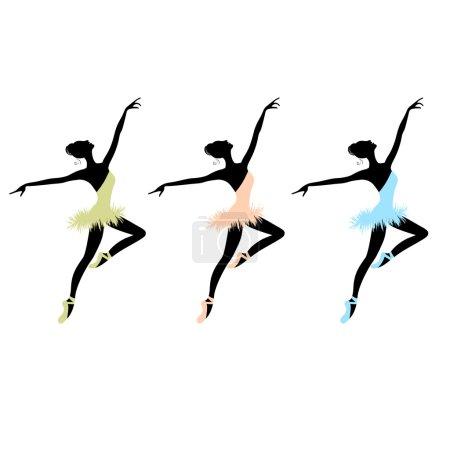 Illustration for Ballet dancers for your design - Royalty Free Image