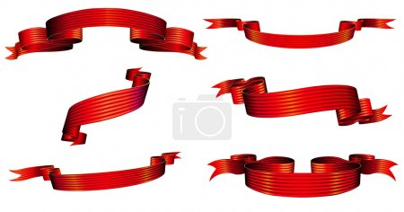 Photo for Illustration of red blanked bows, ribbons and banners With Space for Text - Royalty Free Image