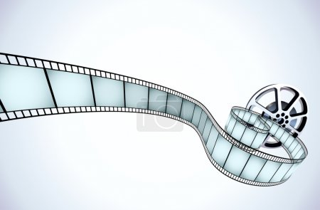 Photo for Illustrator of movie reel with a strip of exposed frames - Royalty Free Image