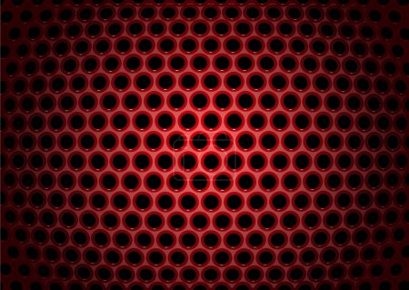 Photo for Illustration of abstract background with textures of red perforated metal plate - Royalty Free Image