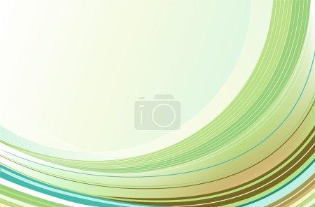 Photo pour Illustration de fond abstrait composé de lignes courbes arc-en-ciel vertes - image libre de droit