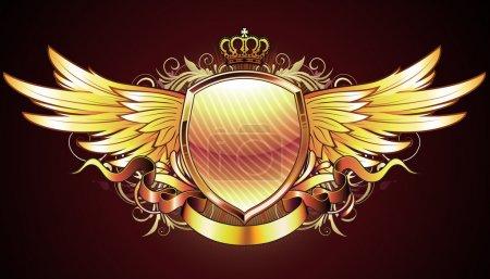 Wappenschild aus Gold