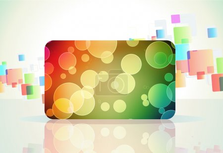 Photo pour Illustration de fond de couleur abstraite avec carte cadeau décorée magique - image libre de droit