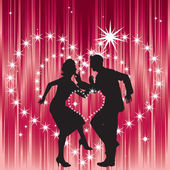 Dancing couple and heart