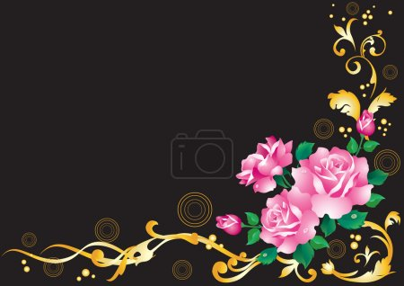 Abstract background with roses.