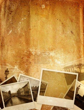 Foto de Fondo Grunge con fotos antiguas y textura de papel - Imagen libre de derechos