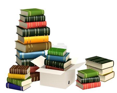 Photo pour Des livres. Objets isolés sur blanc - image libre de droit