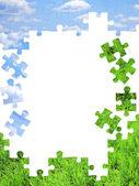 puzzles de nature concept - 3d