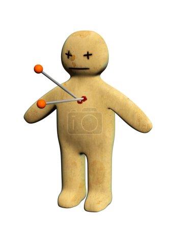 Standing voodoo doll