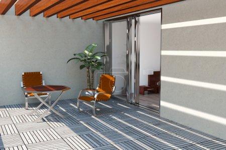 Modern home terrace