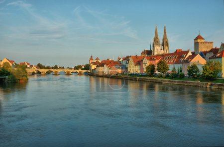 Cityscape of old Regensburg ,Bavaria,Germany,Unesco heritage,Hdr