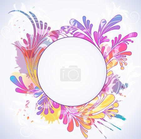 Illustration pour Colorful floral background, vector illustration - image libre de droit