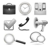 Highly detailed office icons for business web site