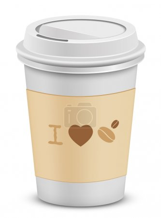 I love coffee. Plastic coffee cups with lid