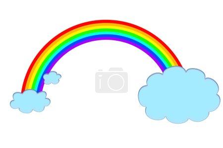 Photo for Illustration of rainbow on white - Royalty Free Image