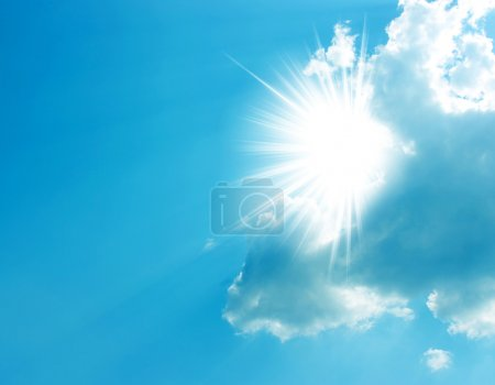 Photo for The blue sky and sun - Royalty Free Image