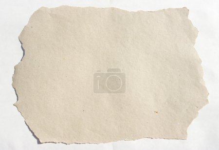 Photo for Burnt paper over white background - Royalty Free Image