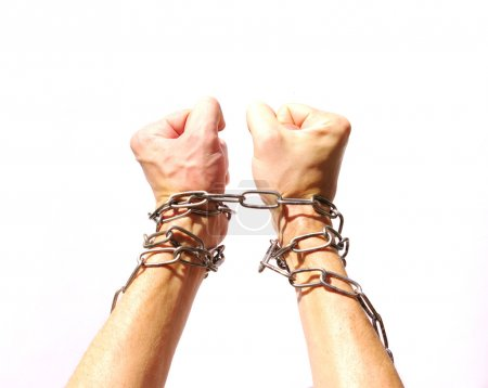 Hands chained together