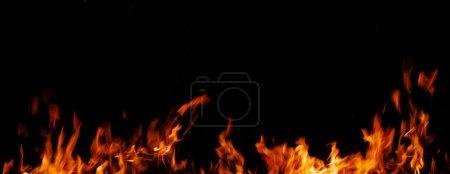 Fire on a black