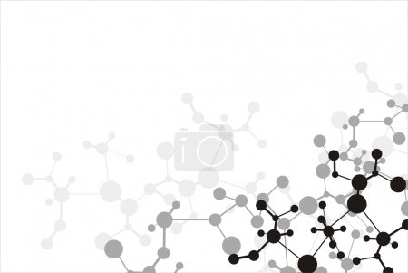 Illustration pour Fond de molécule - image libre de droit