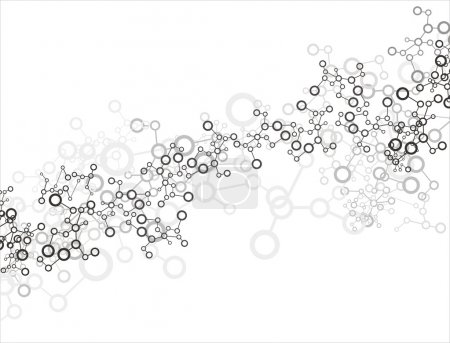 Illustration for Molecule background - Royalty Free Image