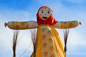 End of the winter. Shrovetide. Big doll for the burning